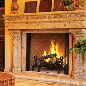 Decorative Wood Fireplaces
