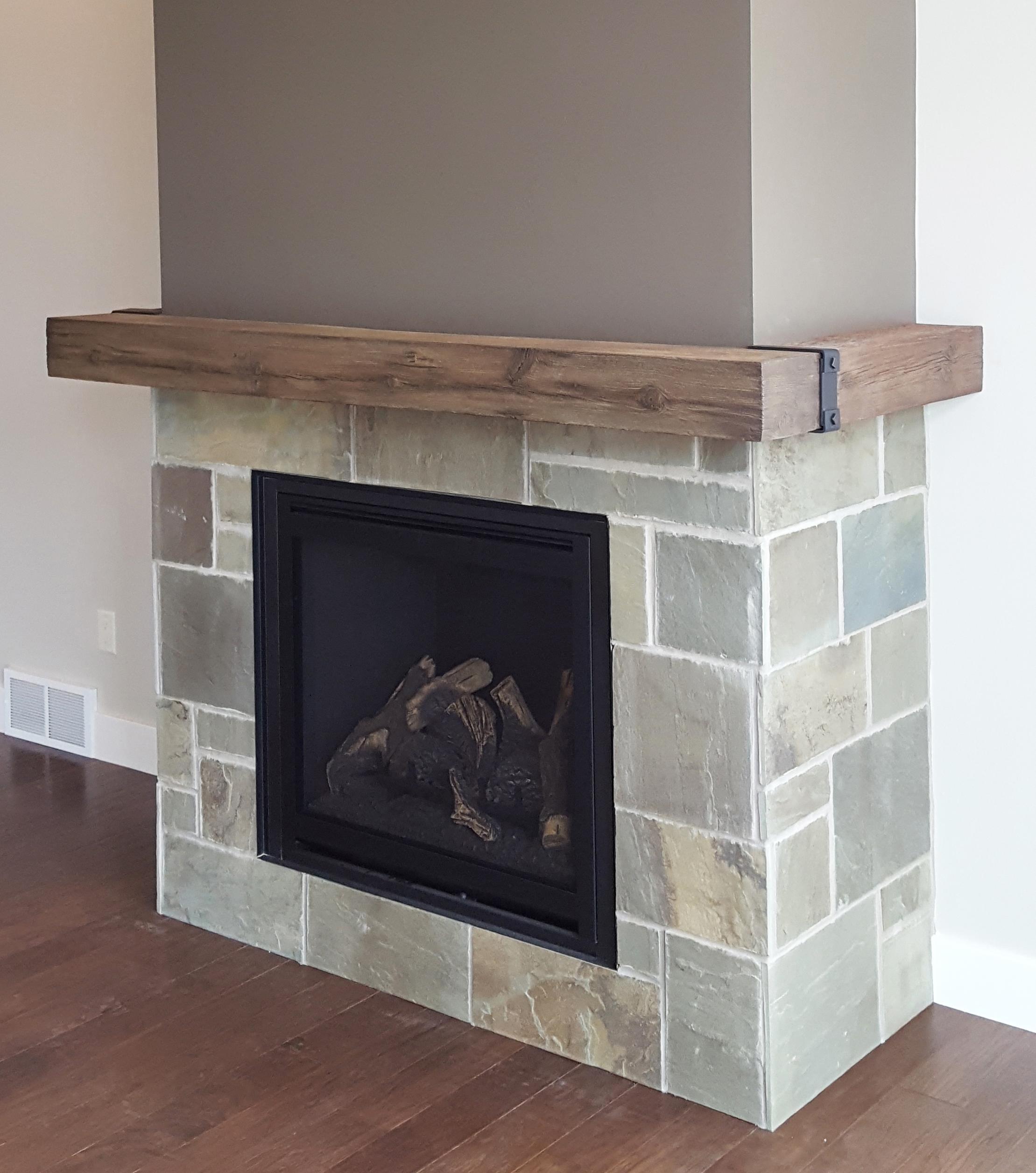 Natural Wood Mantel Shelf Magrahearth